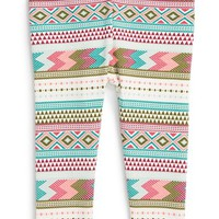 Girl's Tea Collection 'Catamarca' Geometric Print Leggings,