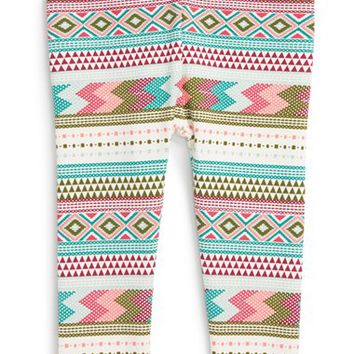 Infant Girl's Tea Collection 'Catamarca' Geometric Print Cotton Leggings,