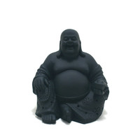 chalkboard buddha statue, buddai, laughing buddha, home decor, zen, buddhist, good fortune, chalkboard decor, spiritual statues