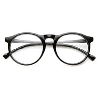 Retro Fashion P3  Key-Hole Bridge Clear Lens Circle Round Eye Glasses