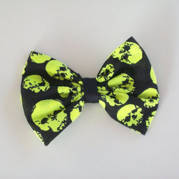 goth punk emo rockabilly black with  neon yellow  by deftstrokes