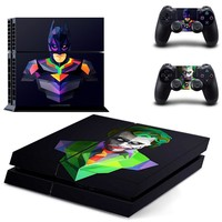 Batman Dark Knight gift Christmas Batman:Joker Ps4 Skin Sticker Case Cover for Sony PlayStation 4 and for Two PS4 Controllers AT_71_6