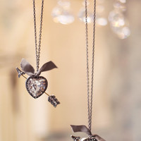 Cupid heart love necklace