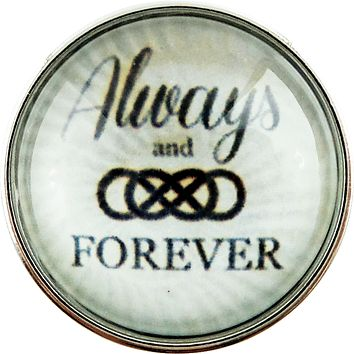 Snap Charm Always and Forever Double Infinity Glass Cover 20mm
