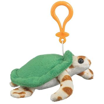 "Wildlife Tree 5"" Green Sea Turtle Stuffed Animal Clips for Kids Backpack Toy"
