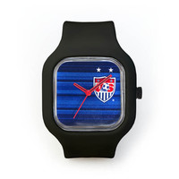 USWNT Jersey Watch in a Black Strap