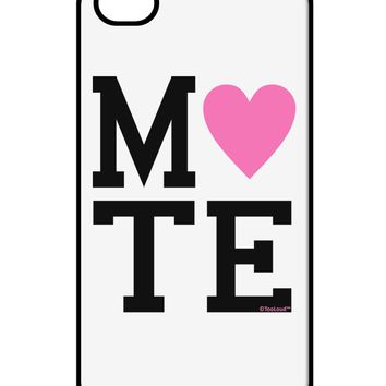 Matching Soulmate Design - Mate - Pink iPhone 4 / 4S Case  by TooLoud
