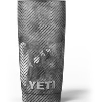 Gray Watercolor Stripes Yeti Rambler Skin Kit
