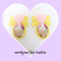 Kawaii bunny cameo plugs