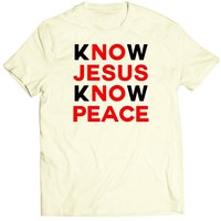 Cream Cookies Unisex, Sassy quote, No jesus no peace, Vintage T-Shirt