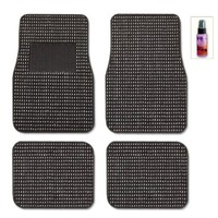 New Black Universal Size Elegant Designer Car Carpet Floor Mats Set with Purple Slice the Multipurpose Cleaner:Amazon:Automotive