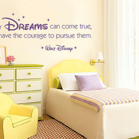 Wall Decal Vinyl Sticker Decals Art Decor Design Signs All your Dreams come true Walt Disney Baby Nursery Family Home bedroom (r341)