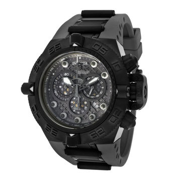 Invicta 11805 Mens Subaqua Noma IV Grey Dial Black IP Steel Black Strap Watch