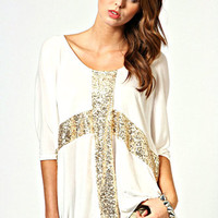 CROSS GLITTER BATWING
