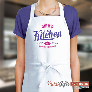 Oma Gift, Birthday Gift For Oma! Funny Apron, Keep Calm, Omas In The Kitchen, Cooking Gift, Awesome Oma, Personalized, Alternative Oma Shirt