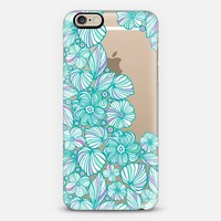 Turquoise flowers iPhone 6 case by Julia Grifol Diseñadora Modas-grafica | Casetify