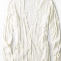 AEO Women's Real Soft Ribbed Knit Cardigan