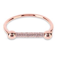 ROSE GOLD THE PAVE BARBELL CUFF