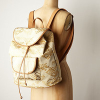 Gilded Arrow Backpack by Anthropologie Gold One Size Bags