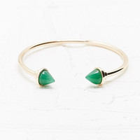 Mint Triangle Stone Cuff in Gold - Urban Outfitters
