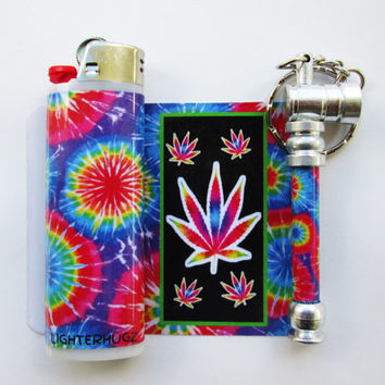 Tie Dye High Matching Pipe and Lighter