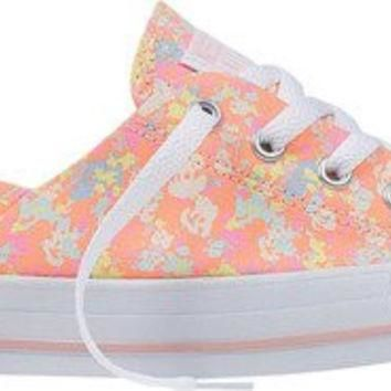 Converse Womens Chuck Taylor All Star Coral OX Sneaker Vapor Pink/Sunset Glow/Porpoise
