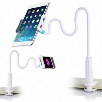 Cell Phone Holder Flexible Long Arms Mobile Phone Desktop