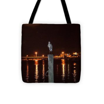 Blue Heron Night - Tote Bag