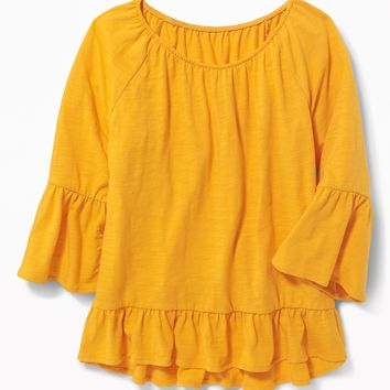 Ruffle-Trim A-Line Top for Girls | Old Navy