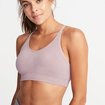 Seamless Light Support Sports Bra for Women | Old Navy