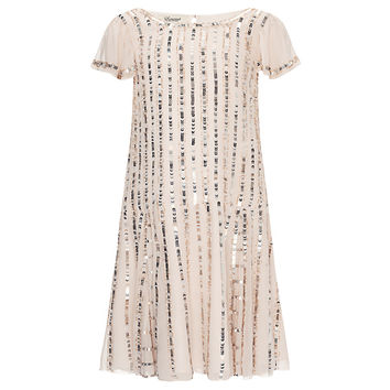 Buy Somerset By Alice Temperley Girls' Drop Waist Sequin Dress, Nude online at John Lewis