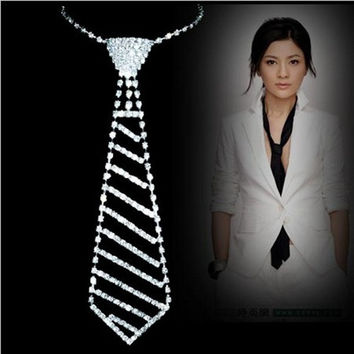 Bride rhinestone tie accessories wedding necklace jewellery statement necklace 2015 new Design noble jewelry = 1929947844
