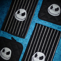 NIGHTMARE BEFORE CHRISTMAS Jack Skellington Embroidered Towels & PoTHoLDeRS SeT CUSToM Designs by Sugarbear FaBuLoUS Boutique Quality