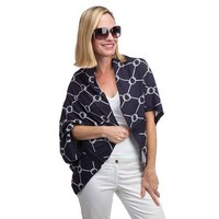 Bowline Shrug in Navy and White by Top It Off - FINAL SALE