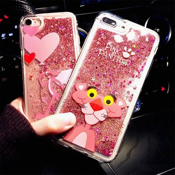 Cute Drink Bottle Ice Cream Glitter Star Dynamic Liquid Quicksand Phone Case for IPhone X Cases for Iphone 7 6 6S 8 Plus Case