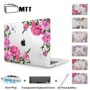 MTT Flowers Laptop Case For Macbook Air Pro Retina 11 12 13 15 With Touch Bar New Cover for apple macbook Air 13 inch A1932