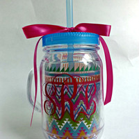 Aztec Beach Mason Jar