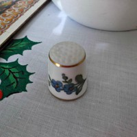 Vintage Bing and Grondahl Porcelain Thimble Blue Flower