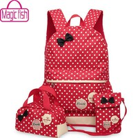School Backpacks for kids for college travel bags 3 Pcs/Set