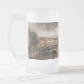 View to Fontanka River. St. Petersburg, Russia. Frosted Glass Beer Mug