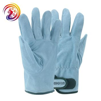 OLSON DEEPAK Cow Split Leather Factory Driving Gardening Handling Industry Work Gloves 146 Free Shipping