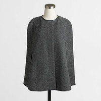 Factory grey and black wool cape