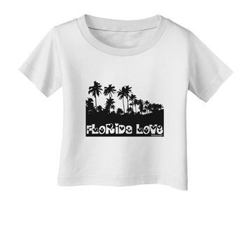 Florida Love - Palm Trees Cutout Design Infant T-Shirt by TooLoud