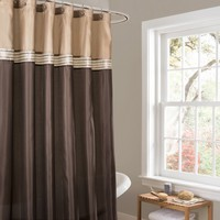 Terra Beige/Brown Shower Curtain - Gifts for You and Me