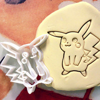 Pikachu Pokemon Cookie Cutter - Made from Biodegradable Material