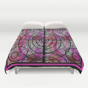 PINK MAZE Duvet Cover by violajohnsonriley