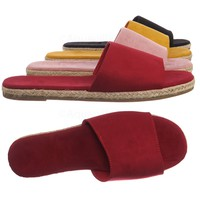 Layover05 Espadrille Braided Slippers - Women Slide In Flat Padded Slides