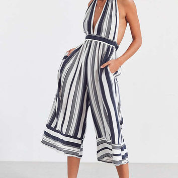 Faithfull The Brand Felix Striped Halter Jumpsuit | Urban Outfitters