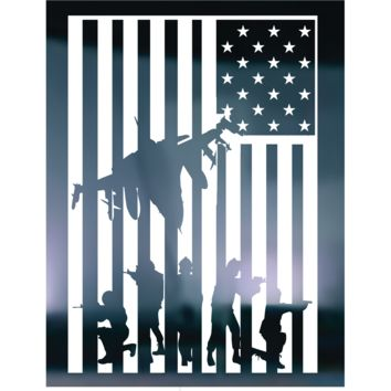 American Flag Soldiers Vinyl Graphic Decal