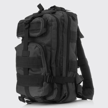 Men's Waterproof Nylon High Capacity Military Attack Travel Riding Back Pack Rucksack Backpack Camo Bag